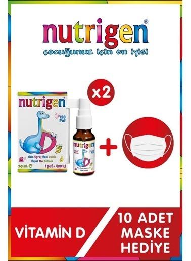 Nutrigen Nutrigen Vitamin D3 400'lü 20 Ml Damla / Sprey 150 Puf X2 Maske Hediyeli Renksiz